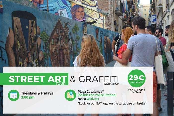 Barcelona street art experience tour workshop